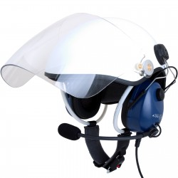 Paragliding helmet for PPG with communication set