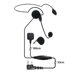 Zestaw słuchawkowy z mikrofonem na pałąku