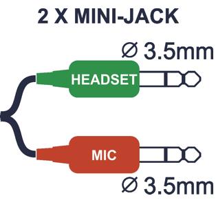 2 x MINI-JACK