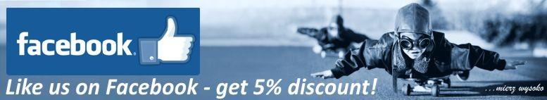 Like us on Facebook - get 5% discount!